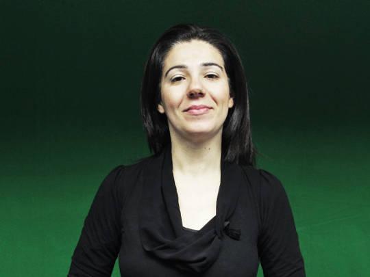 Manuela Medau - Interprete LIS e formatrice per il laboratorio sulla sordità nel progetto Paesaggi visivi e sonori