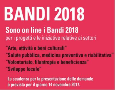 Fondazione di Sardegna - Bandi 2018