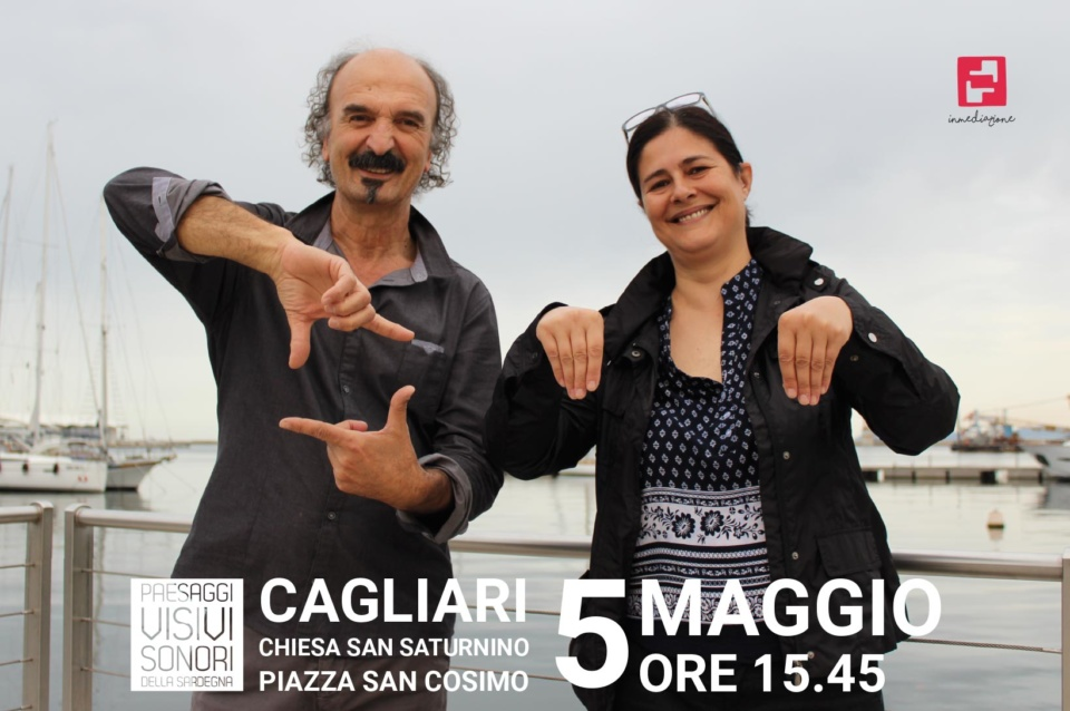 Cagliari Monumenti aperti 2018 | Cultura senza barriere - Visita/Spettacolo in LIS alla Basilica di San Saturnino - Foto invito di Alessandra e Vito in LIS